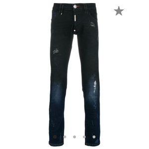 PHILIPP PLEIN distressed skinny jeans 32 Authentic